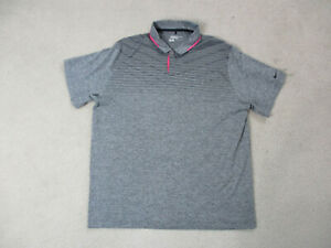 Nike-Golf-Polo-Shirt-Adult-2XL-XXL-Gray-Pink-Tour-Premium-Dri-Fit-Rugby-Mens