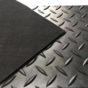 CHECKER - PLATE RUBBER GARAGE FLOORING MATTING 1.3M WIDE X 3MM THICK - A GRADE