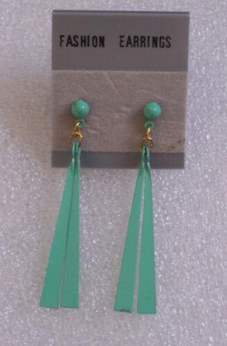 Retro 1990s Vintage Fab Drop Earrings 6 Pastel Colours Pierced or Clip-on