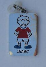 Isaac NAME CHARM dog tag pendant zipper pull key chain flair