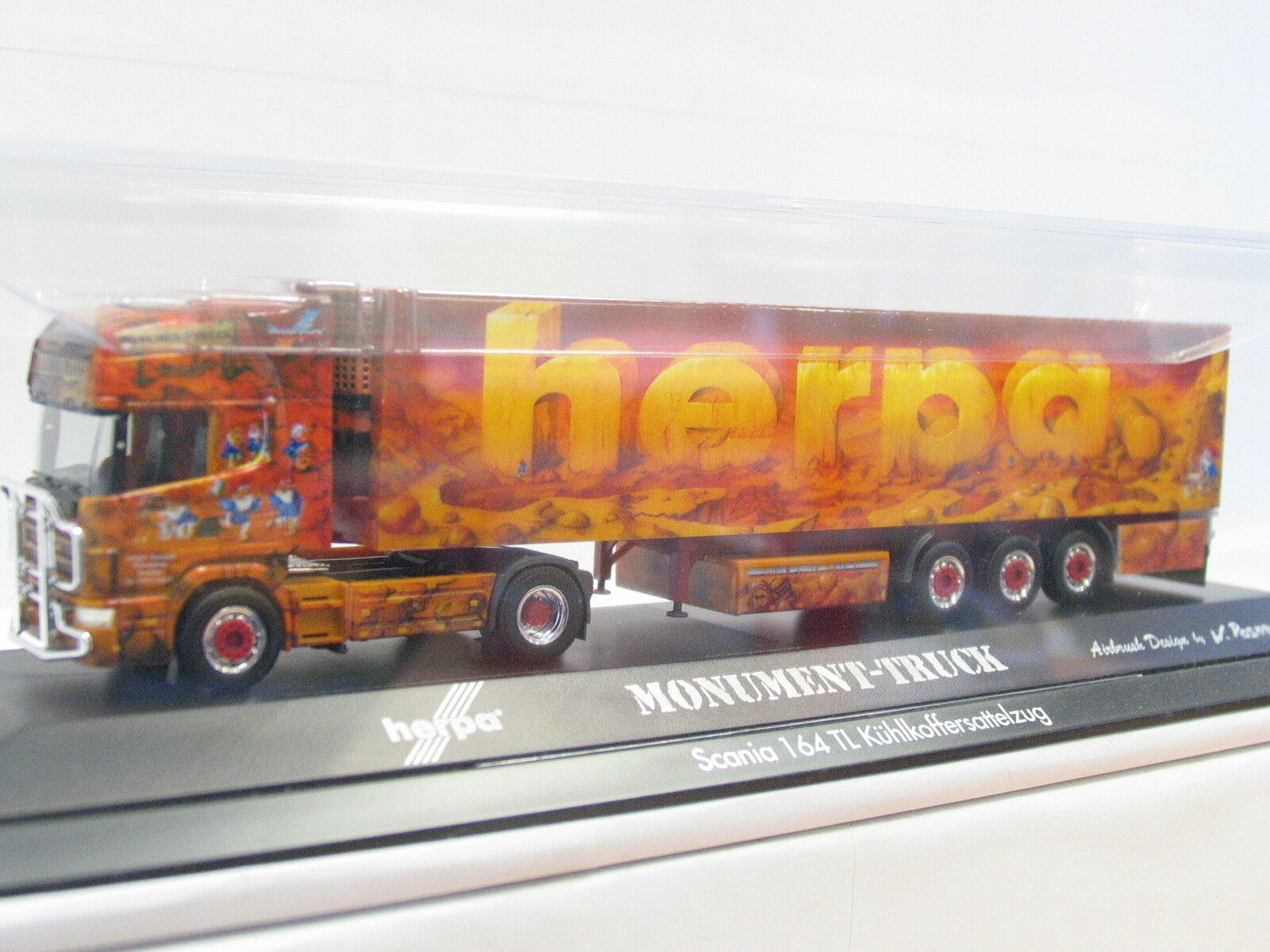 HERPA 120302 scania semi-remorque Kühlkoffer show-Camion Herpa OVP (g2293)