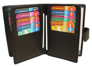 Leder-Ausweismappe-Ausweisetui-Kartenetui-Kartenboerse-Kreditkarte-Visitenkarten