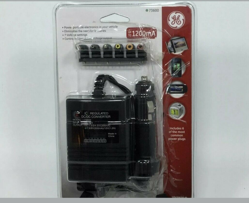4 GE Universal DC Adapter and Battery Eliminator Vehicle Adapter Power Tops