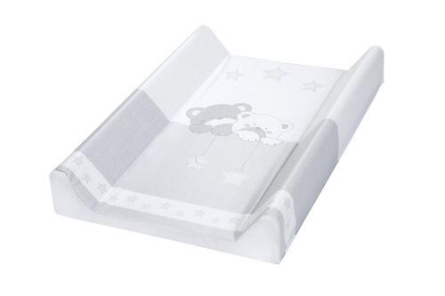 Wickelauflage 47x80 Wickelplatte Wickeltisch für Bett grau Bär mit Stern