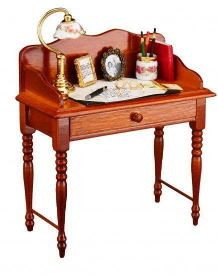 2019 Dollhouse Lady's Secretary Desk w Accessories 1.783 1 Reutter Miniature