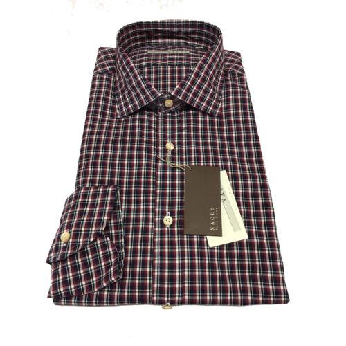 Xacus Uomo Blu Slim bordeaux Vestibilità cotone 100 Quadri 41 Regular 16 Camicia r6qOWS5Hr