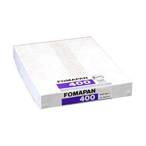 "4 /""x 5/"" de gran formato Black /& White película con cámara 4x5 5x4 50 Hojas De Fomapan 400"