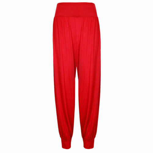 Le donne signore Lunghezza Intera Hareem Leggings Alibaba Plain Pants Pantaloni Larghi