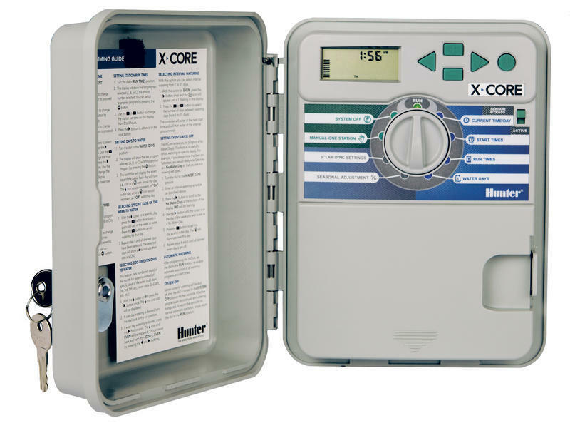 Hunter X-Core Outdoor Irrigation Controller Available in 4, 6 or 8 Zones