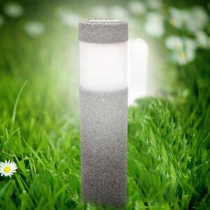 Lampe-Solaire-Pierre-Pilier-Blanc-Led-Jardin-Eclairage-Exterieur-Luminaire-Decor