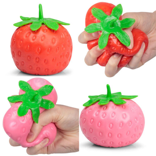 Ball Erdbeere Squishy Quetschball Anti Stress Knautsch Langsam Steigend Knetball