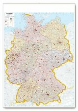 Poster Postal Code Map Germany Vertical Format 37 2/5x54 7/10in 3724713. 5oz1