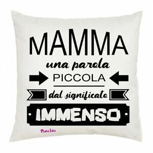 Compleanno Mamma Idea Regalo.Cuscino 40x40 Scritta Simpatica Mamma Idea Regalo Festa Compleanno
