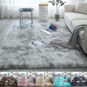 Super Soft Tie Dye Art Carpet Floor Bedroom Mat Fluffy Area Rug Room Carpet Mat Ebay