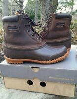Womens Lacrosse Duck Boots 5 Eye Leather Pac 424502 Sz 11 Waterproof Leather