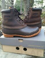 Womens Lacrosse Duck Boots 5 Eye Leather Pac 424502 Sz 11 Waterproof Leather