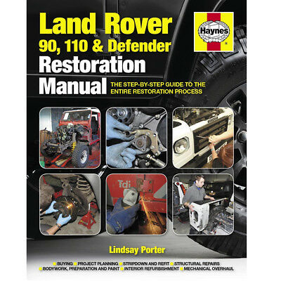 Land Rover 90 110 Defender Restoration Manual by Haynes - 2nd Edition