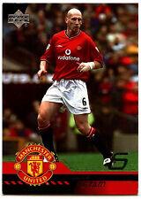 Jaap Stam Manchester United #6 Upper Deck 2001 Football Trade Card (C361)