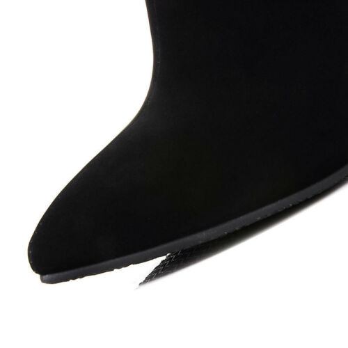 fashion Women pointed toe joint high heel stiletto ankle boots back zipper shoes