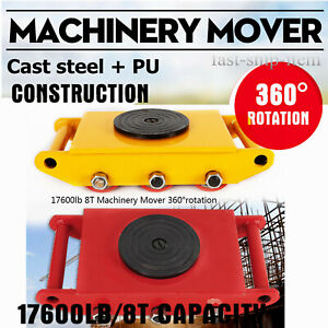 Industrial Machinery Mover Machinery Skate with Steel Rollers Cap 360 Degree Rotation Machine Dolly Skate Machinery Roller Mover 6T