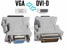 Adaptateur Convertisseur de prise VGA vers DVI -D  ( Pour cable, ecran, carte )