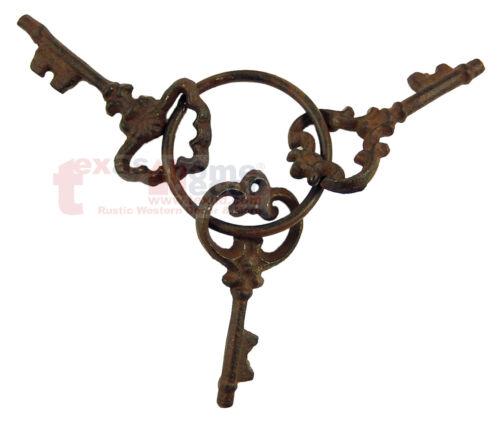 Cast Iron Jailers Keys Victorian Antique Style Skeleton Key