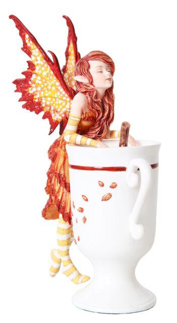 Cider Faery Figurine Tea Cup Fairy Collection