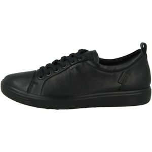 Ecco-Soft-7-Ladies-Shoes-Women-039-s-Leather-Low-Shoes-Sneaker-Black-440303-01001