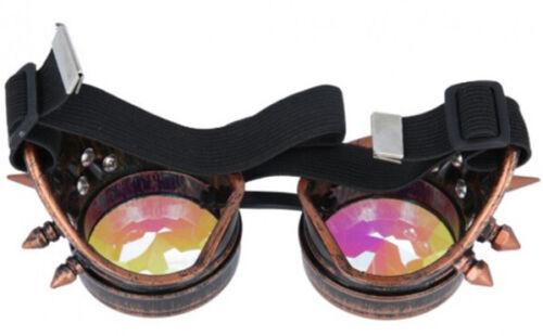 Steampunk victoriennes Vintage Goggles Lunettes de soudage cyber gothique punk Cosplay UK