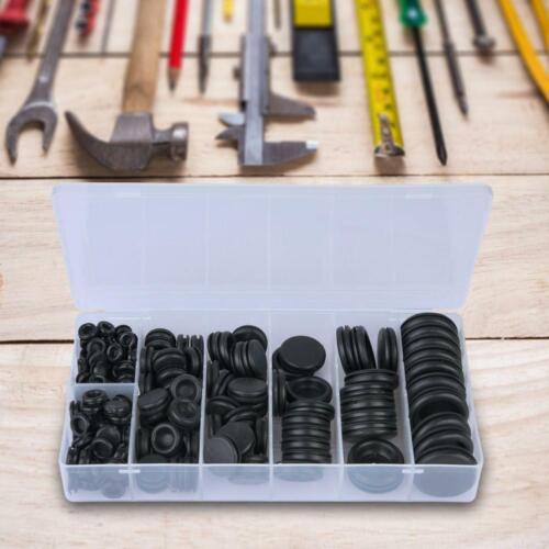200pcs Rubber Grommet Electrical Wire Gasket Set Sealing Assortment Set 8 Sizes