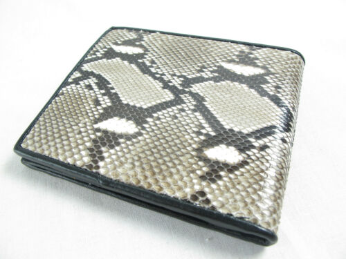 Genuine Python Snake Skin Leather Mens Bifold Wallet Natural FREE SHIPPING