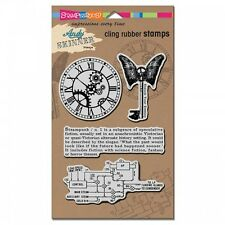 Stampendous Steampunk Andy Skinner Cling Rubber Stamps clock fathers day media
