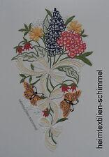 PLAUENER SPITZE ® Fensterbild FRÜHLING Dekoration SCHMETTERLING Sommer BLUMEN