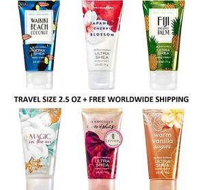 Bath-and-Body-Works-Travel-Size-Body-Cream-2-5-oz-Ultra-Shea-Free-World-Ship