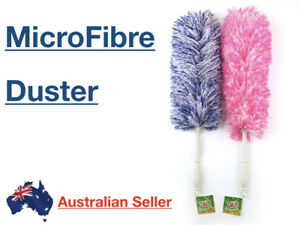 ZILCH Duster Microfibre 51cm Pink Blue Cleaning Long Reach Flexible Dust Dusting