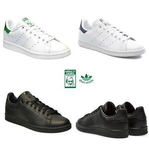 Détails sur Adidas Homme Originals STAN SMITH Baskets Cuir Noir Blanc Chaussures De Tennis UK afficher le titre d'origine