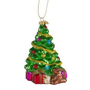 weihnachts deko anh nger christbaum schmuck glas baum tannenbaum lights4fun ebay. Black Bedroom Furniture Sets. Home Design Ideas