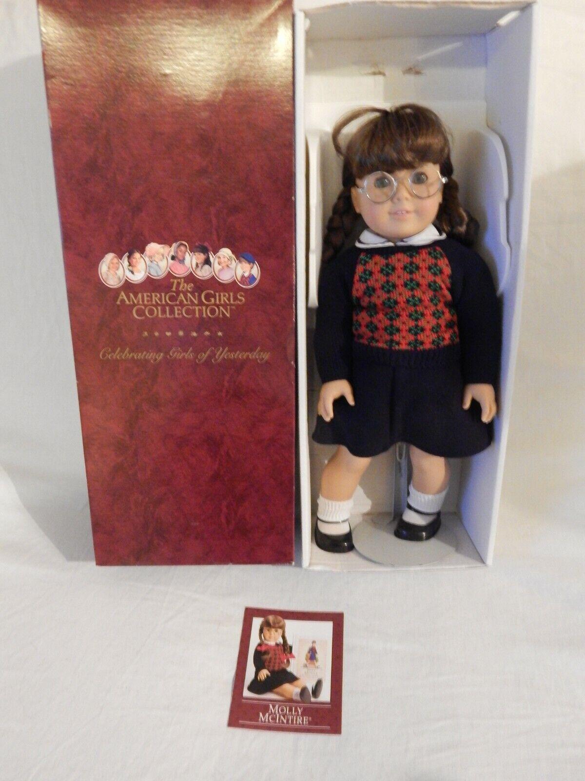 La Muñeca American Girl Molly McIntire en Caja satisfacer Molly Conjunto folleto, jubilado
