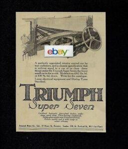 Triumph Motor Company Ltd 1930 Super Seven Finest Small Car Ad Ebay