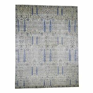 12-039-x15-039-6-Oversized-Willow-And-Cypress-Tree-Design-Hand-Knotted-Rug-R45508