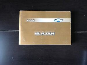 2002 chevy chevrolet blazer owners manual oem free shipping ebay rh ebay com 2002 chevy blazer owners manual 2003 Chevrolet Blazer