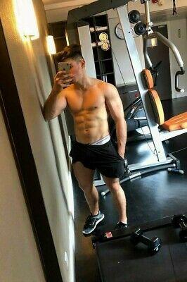 shirtless male muscular hunk workout gym jock fitness