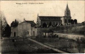 CPA-Vougy-Eglise-et-la-Mairie-664107