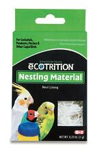 8 in 1 Ecotrition Nesting Material for Cockatiels Parakeets Finches 0.25oz