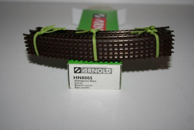 Arnold Spur N: 10 * HN8005 gebogenes Gleis R1 45 °, OVP