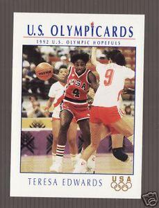 1996 UD OLYMPIC CHAMPIONS TERESA EDWARDS CARD #13 WNBA