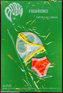 Vintage-Bobbi-Fashions-Doll-Underwear-Clothes-Outfit-Fits-Barbie-NOS-1960s-White