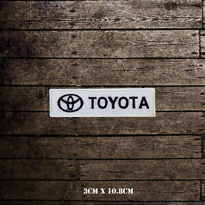 Toyota Car Brand Racing Embroidered Iron On Sew On Patch Badge For Clothes etc