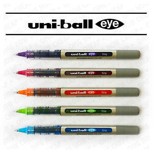 Uni-Ball-UB-157-Rollerball-Pen-Set-5-Pen-Set-Tropical-Colours-Pack