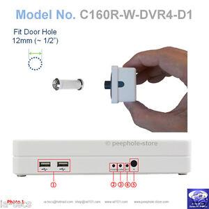 160-Silver-Door-PeepHole-Camera-Motion-Detect-DVR-Remote-Smartphone-Viewing